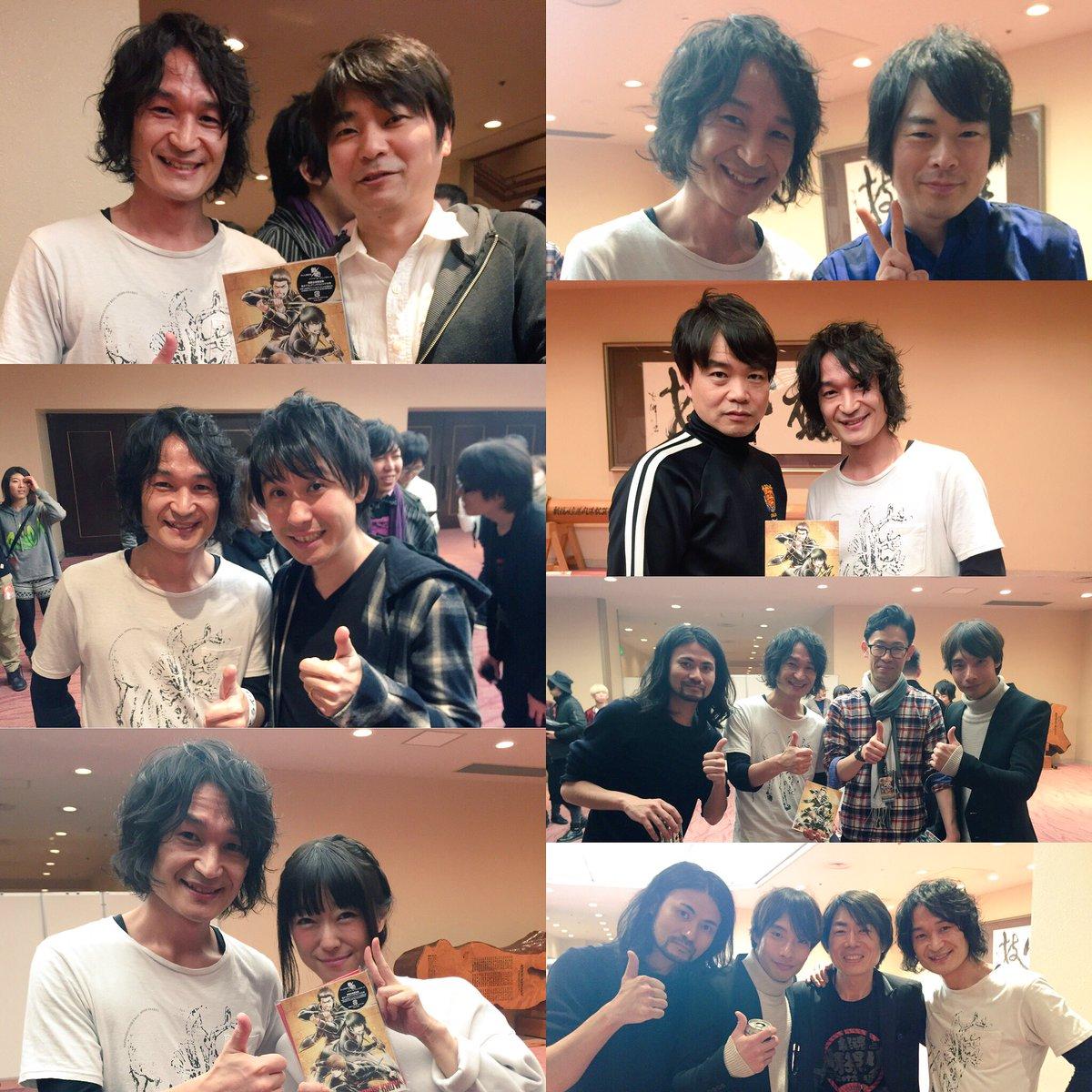 昨日は名だたる声優さん達とお会いできて光栄でした(アニメ好きでよかった!)。樋口さん、池内さんありがとうございました!忘れ難い思い出になりました。 #gintama #銀魂晴祭り #銀魂 https://t.co/ul26J46Ept