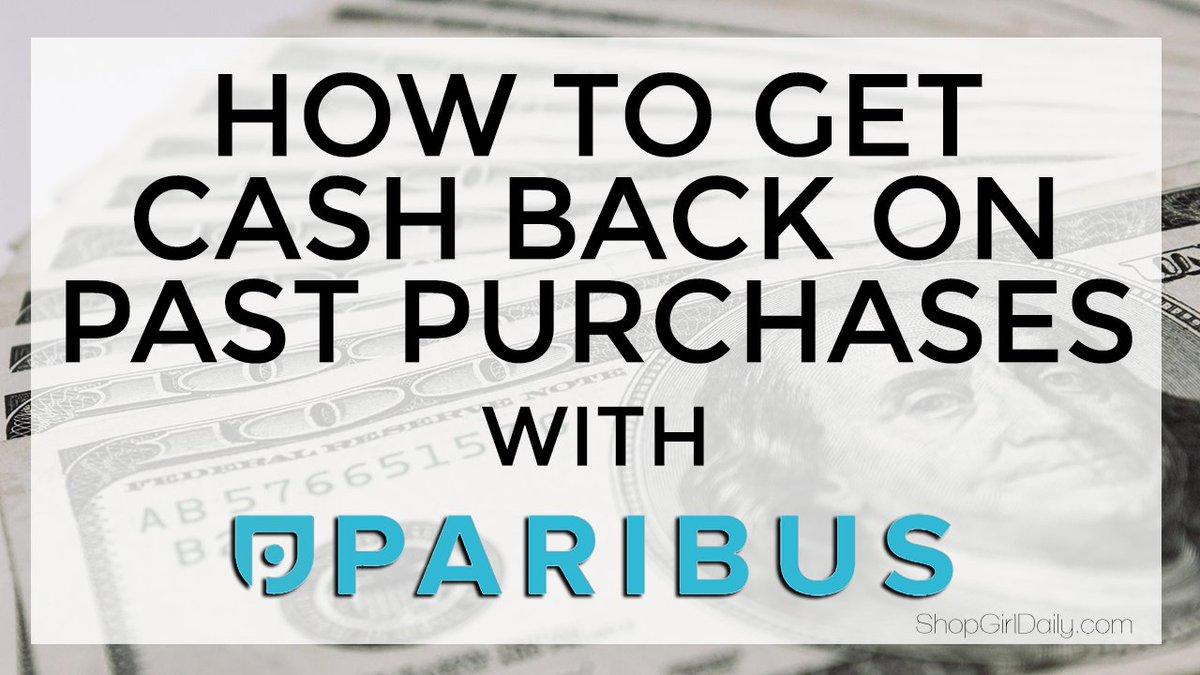Free $$$ anyone? Rcvg cash back when prices drop has never been easier thanks to @ParibusCo! https://t.co/oHuwseuGsj https://t.co/8jbzcgo1Gm