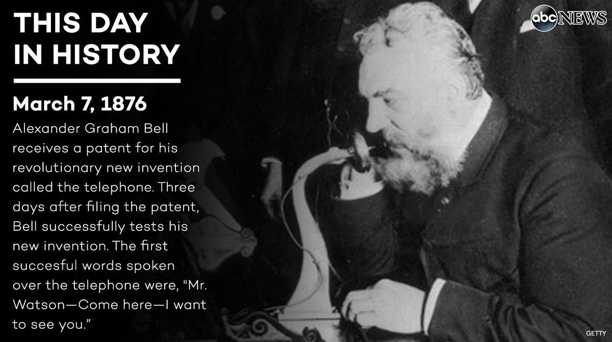 On this day in 1876, alexander graham bell patented the telephone ...