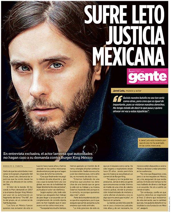 RT @30SECONDSTOMARS: Sufre Leto justicia mexicana, via @reformagente. | https://t.co/W0MhKSVoC5 https://t.co/uj4fffDAsZ