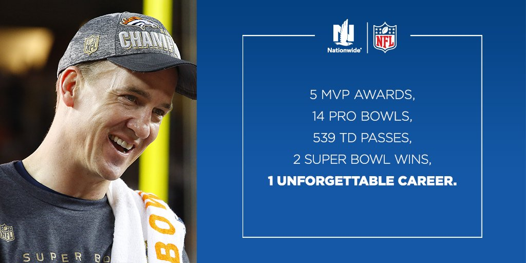Thank you #18 for 18 unforgettable seasons. #PeytonManning https://t.co/5RuMN8TWj3