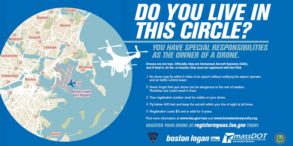 Here's what you need to know before you fly a #drone @MassStatePolice @FAANews @MassDOT https://t.co/UFsMXtLszl