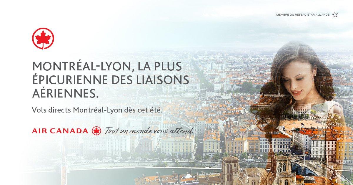 RT @rdpmag: Envie d'évasion? @AirCanada offrira dès le 16 juin un vol direct Montréal-Lyon! On y va?