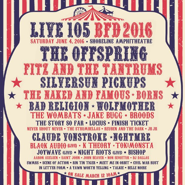 BFD 2016  #LIVE105BFD2016   @LIVE105 https://t.co/sommqn2hKi