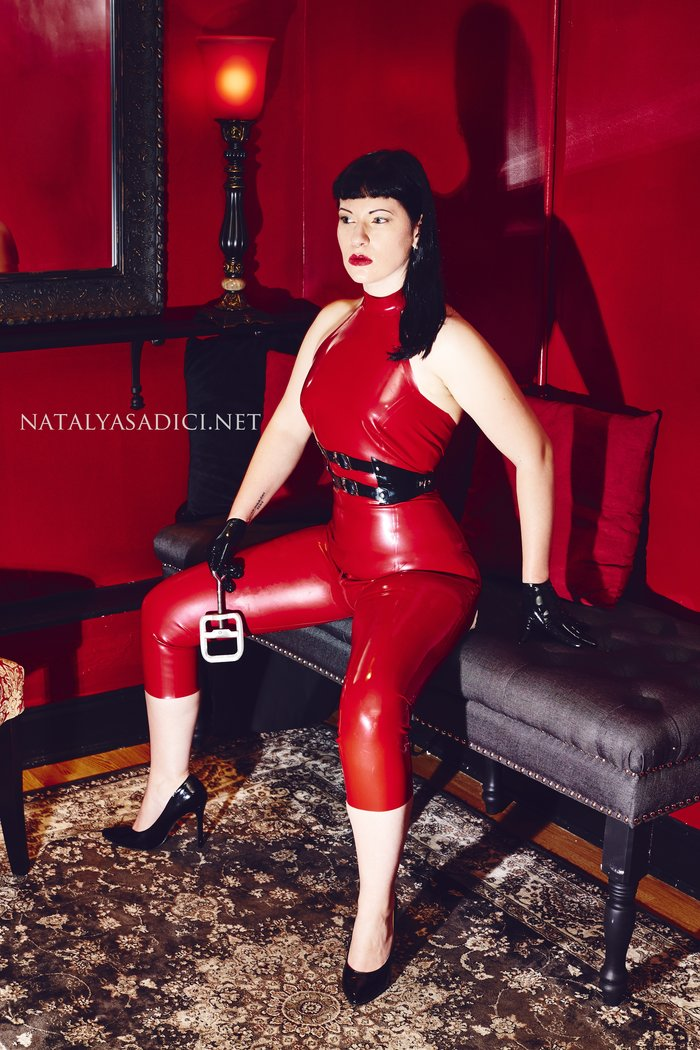 Satin fetish dominatrix mistress
