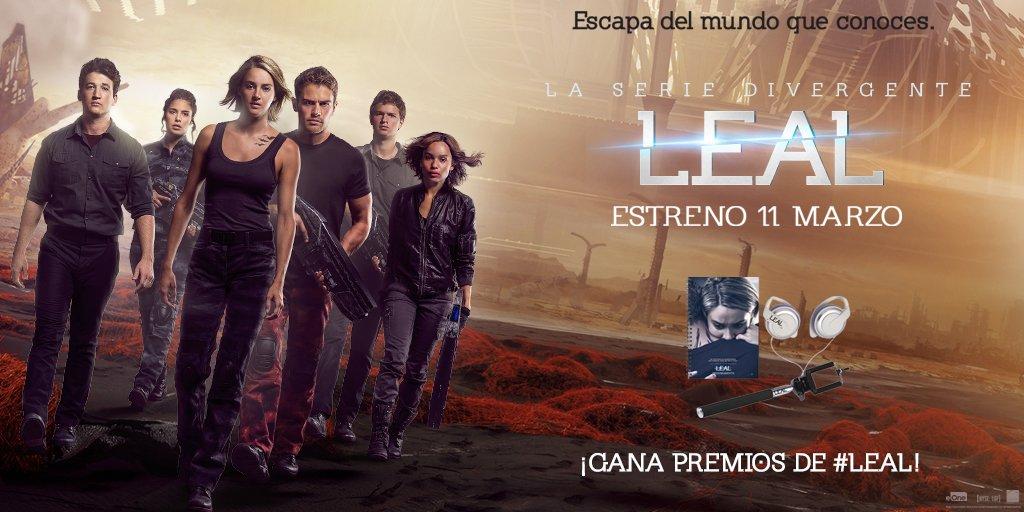 Haz RT y participa en el sorteo de un pack de #Leal, la 3ª entrega de @divergente. Estreno en cines el 11 de marzo!! https://t.co/ea68Snt90Z