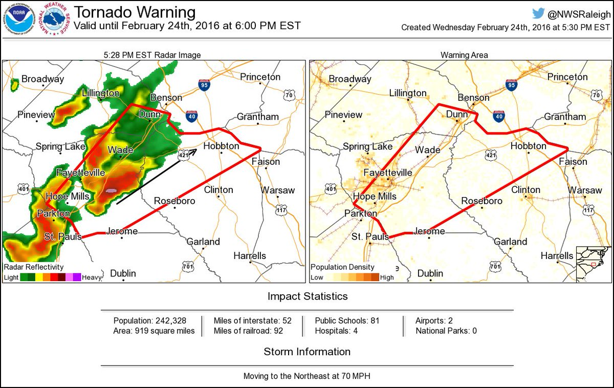 Tornado Warning Including Fayetteville Nc Dunn Nc Hope Mills
