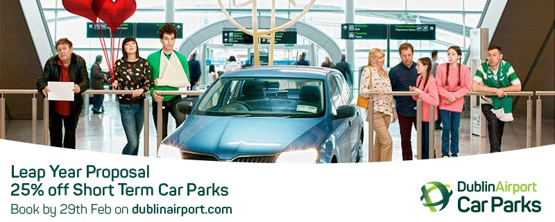 Our Leap Year Proposal - 25% Off Short-Term Car Parks up to Dec 31 2016. Book by Feb 29.