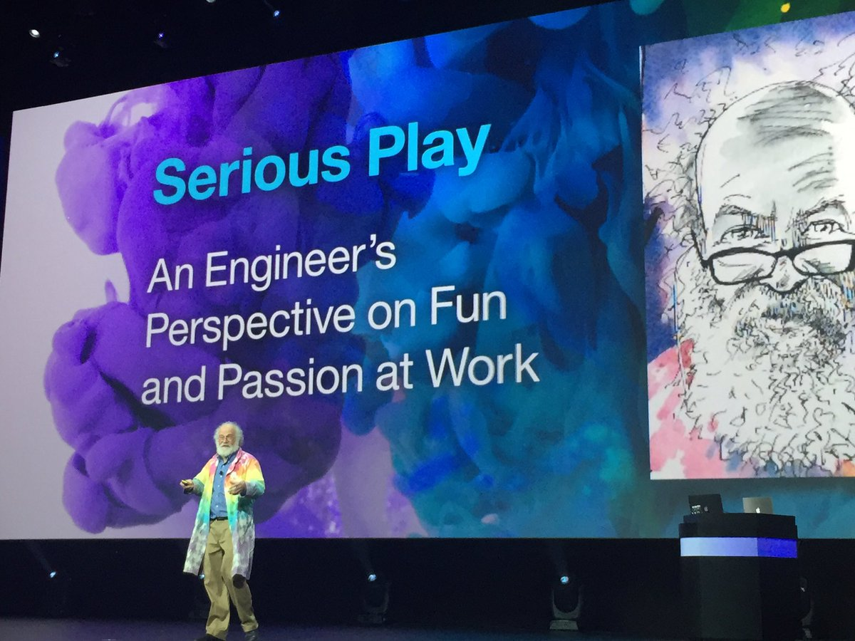 """""""Keep that inner child"""" says #IBM fellow John Cohn on the importance of play. #NewWayToWork #IBMInterconnect https://t.co/uKZhYeCX3q"""