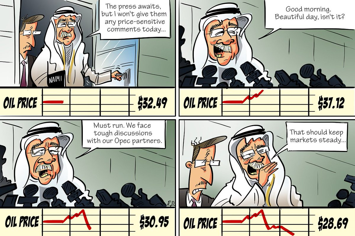 It's not hard for Saudi Oil Minister Ali Al-Naimi to move markets, as this week's cartoon shows. #CERAWEEK #oil https://t.co/tqam7Cu66W