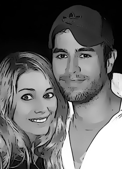 Haha so cool ? love being cartoon characters with @enriqueiglesias thanks for a special friend for making