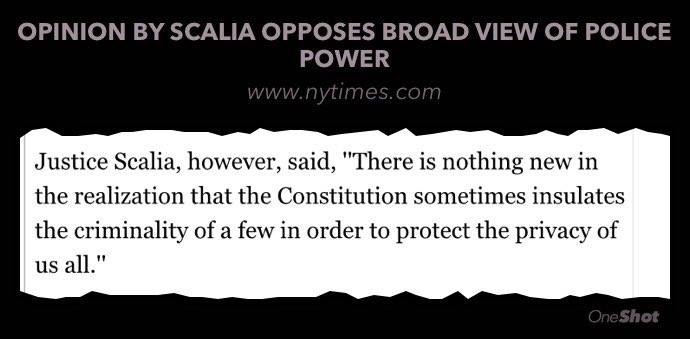 Interesting 1987 quote from Supreme Court Justice Scalia. I hope this logic can be applied to FBI vs. Apple. https://t.co/9qCXNf0Hos