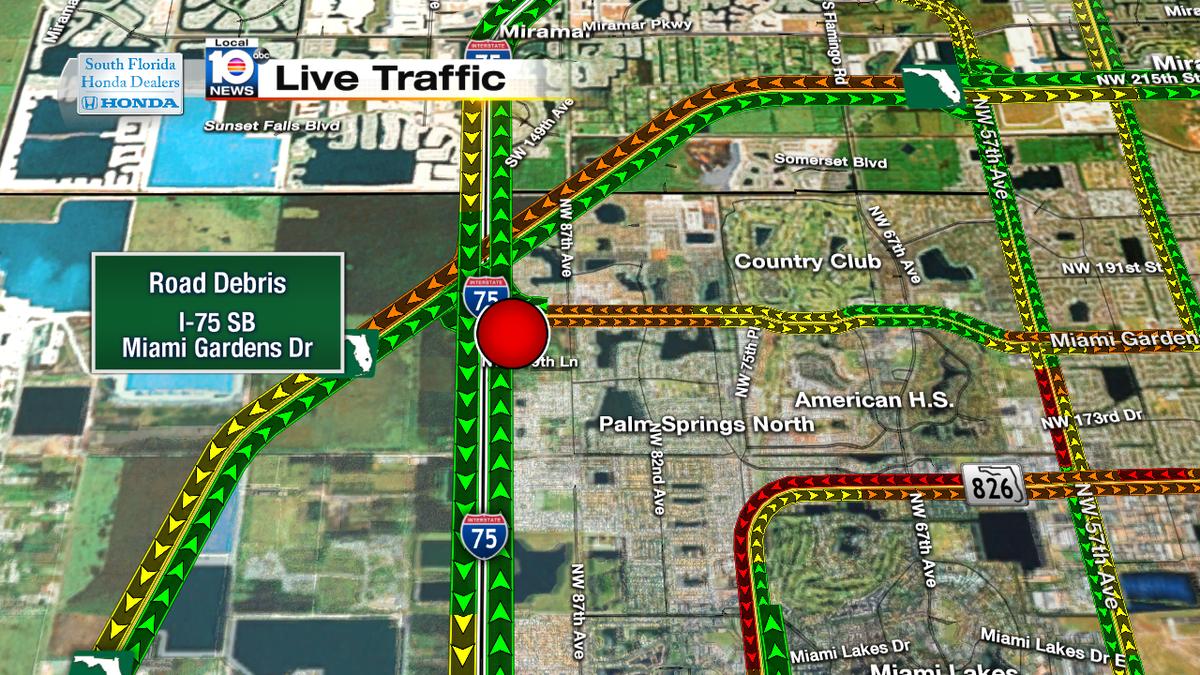 Road Debris On I 75 Sb Miami Gardens Dr Traffic Miami News Newslocker