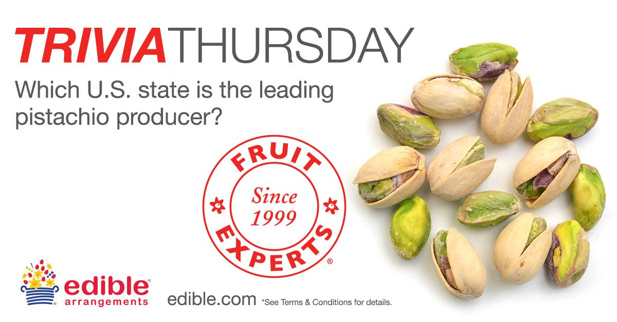 It's Trivia Thursday! Do you know this week's answer? If you do you could win a free box of Dipped Fruit™. https://t.co/PzcKpwY3CB