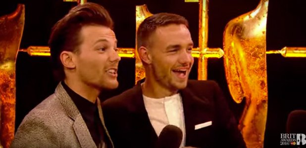 So funny! One Direction's BRIT interview is amazing after Liam gets the giggles over 'do do'