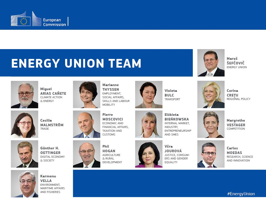 1st yr anniversary of #EnergyUnion is an opportunity to thank my entire team for their indispensable contributions! https://t.co/vvirtHt8QI