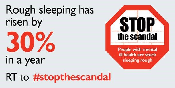 BREAKING: Gov report today reveals rough sleeping risen by 30% in just one year. #StoptheScandal https://t.co/hRB53NQhOW