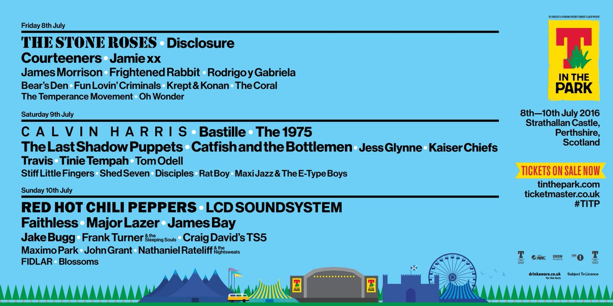 T in the Parkers, best audience in the world, here is your #TITP 2016 line-up!