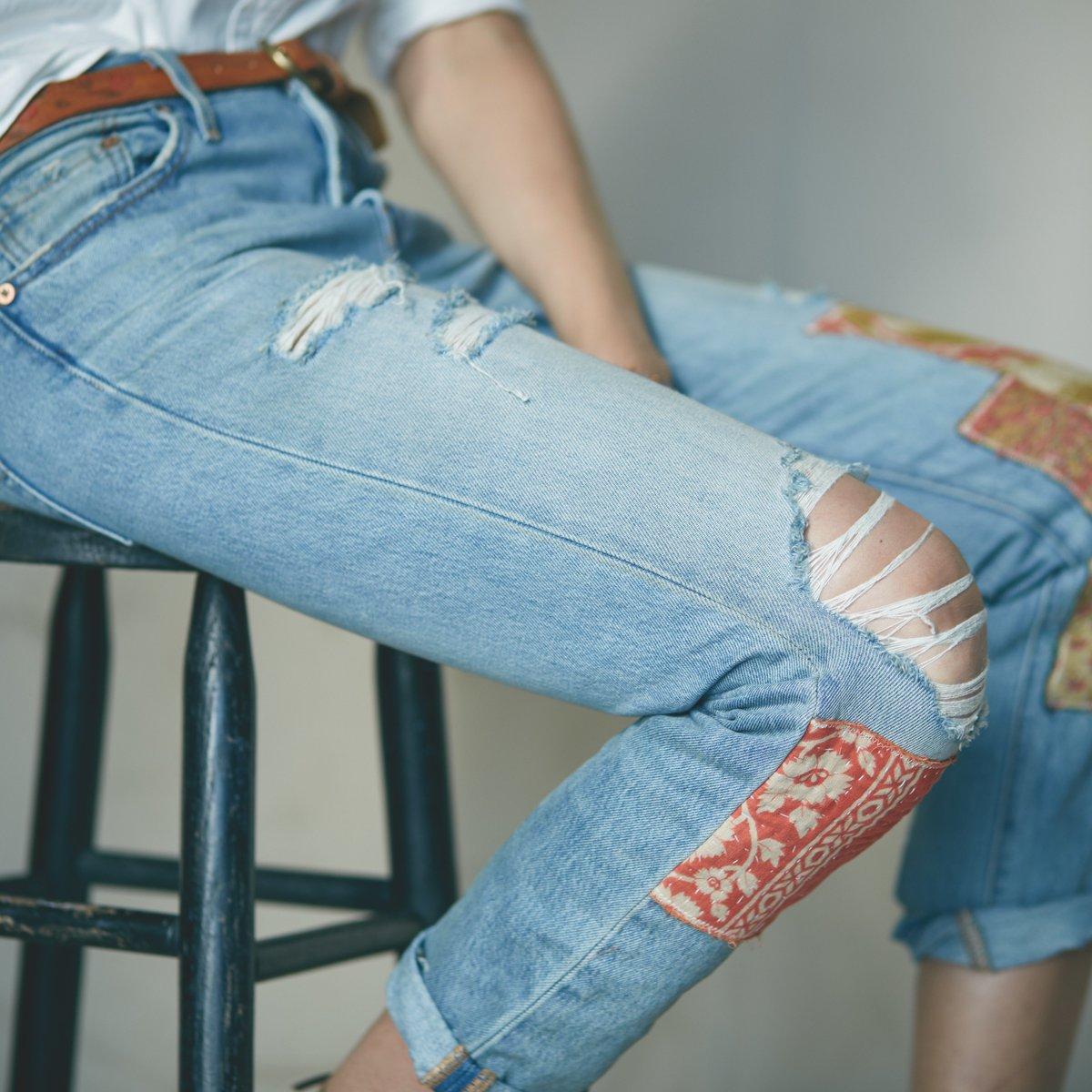 Как ребенку сделать рваные джинсы