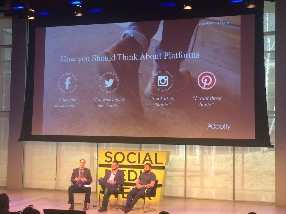 .@Facebook = past, @twitter and @instagram = present, and @pinterest = future - @adaptly #SMWNYC #SMWAdaptly https://t.co/TgfKHaEJPH