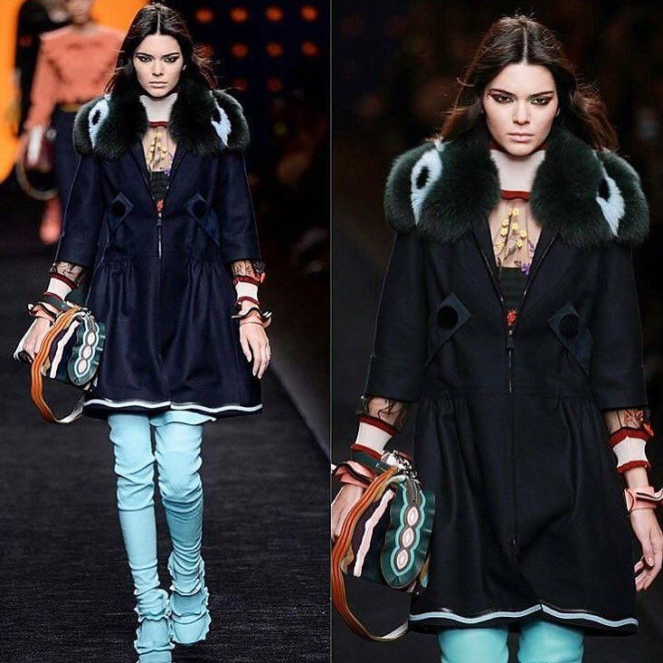 Ok Kendall! I see you!!!! Walking in the FENDI fashion show and shit! we miss you but we are proud of you!! https://t.co/1dGKbIXInY