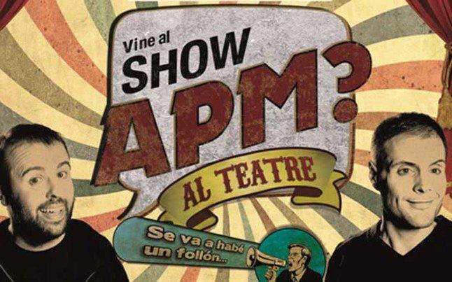 Sorteamos dos entradas dobles para el show de @APMTV3 entre todos los que RT este tweet https://t.co/2LgrU0y2F1