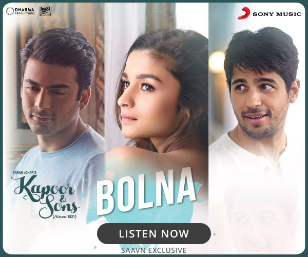 "Listen to ""Bolna"" by @iamarijit from #KapoorAndSons at https://t.co/SQwqvKv8Us @sonymusicindia @dharmamovies https://t.co/T37lO65W99"