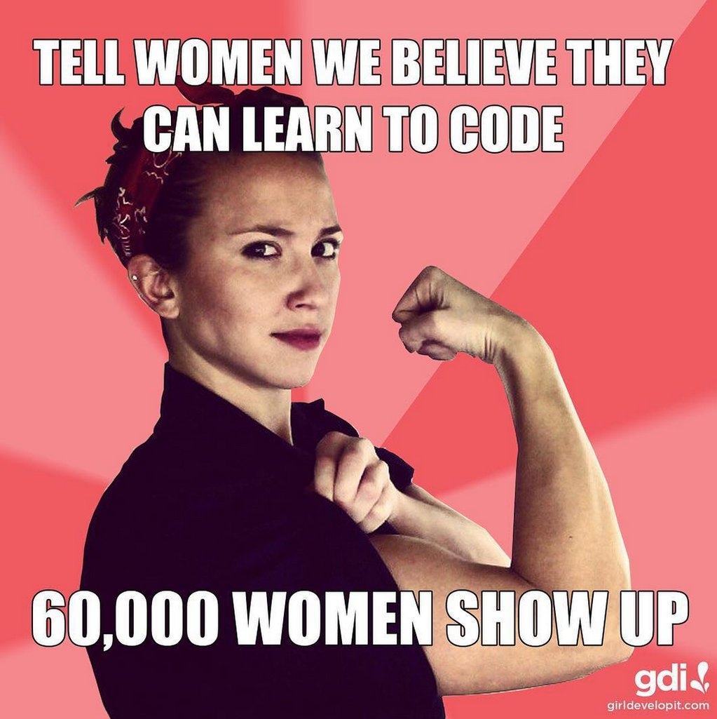 We reject the stereotype that women aren't interested in coding. We've taught skills to 60,000+ students! #STEMCode https://t.co/3m3cYsTdtz