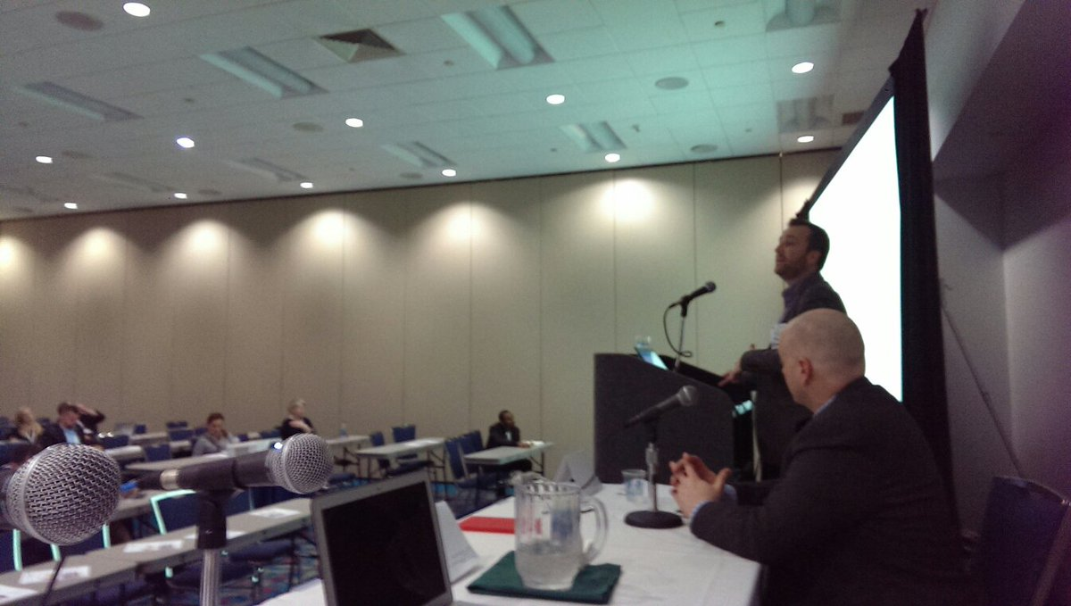 I just finished speaking and @peterleshaw is now up #pubcon #PubconSFIMA #sfima https://t.co/A9uE8JkTCY