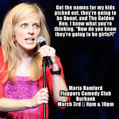 @mariabamfoo March 3rd in Burbank! Link to tix: https://t.co/bnVaSFxl98 #ladydynamite #comedy https://t.co/udUYCGO6D0