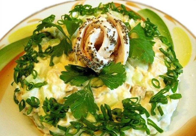 Салат интердевочка слоями рецепт