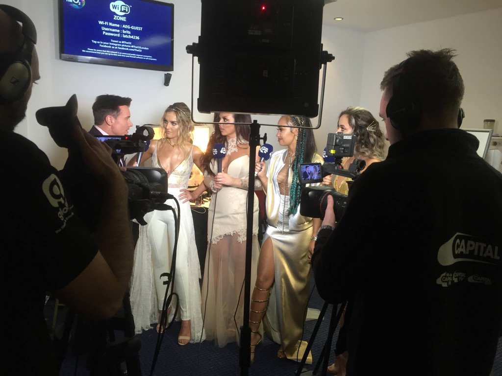 Last night with @LittleMix , bless... they were SO nervous! But they SMASHED the #Brits2016 https://t.co/PDcz30RO6o