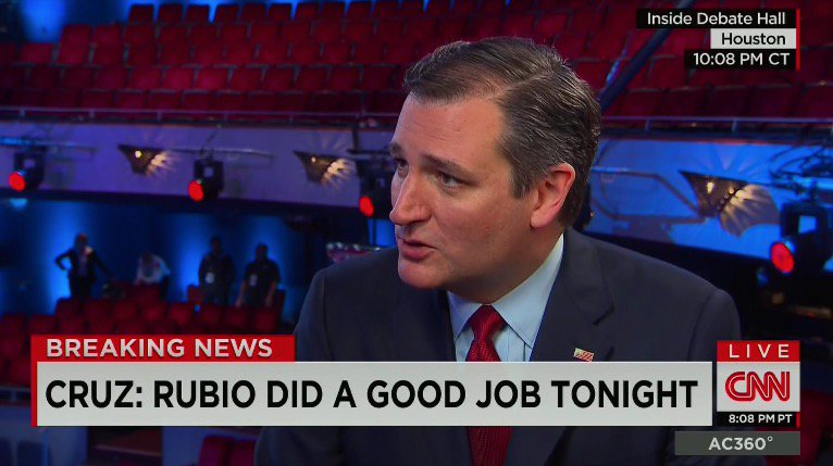 Cruz: Marco and I would both make a much better candidate and a much better president than Donald. https://t.co/XUjvSprgol