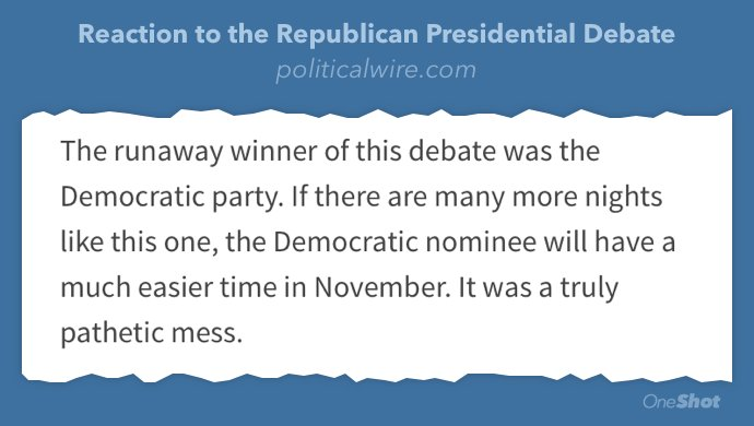 Smart take @politicalwire #GOPDebate https://t.co/lKY6ndFl5P https://t.co/Da7uMeafeG