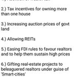 @PMOIndia @HMOIndia @FinMinIndia @RSSorg @bjpsamvad Why govt so inclined on keeping #RealEstate prices high? https://t.co/wljDmop313