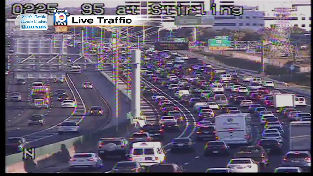 Crash on i-95 nb and sheridan st/ delays past stirling rd #traffic ...