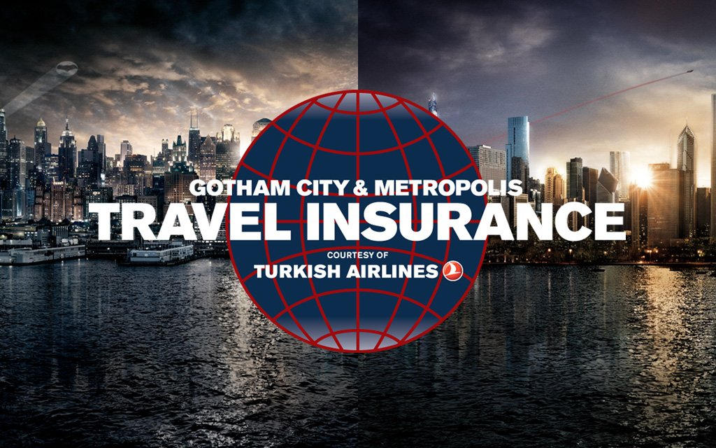 Don't fly to Gotham City without suitable travel insurance: