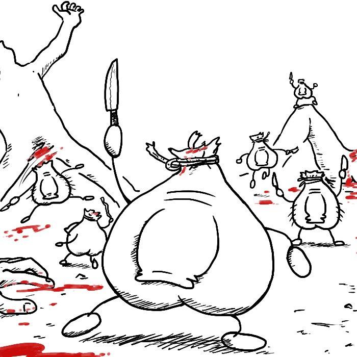 人間の排尿と射精の為だけの存在であることに気付き、反乱を起こし人体から離脱する古代のちんぽ達(想像図)  #一日一ちんぽ https://t.co/P6toxkkCOw