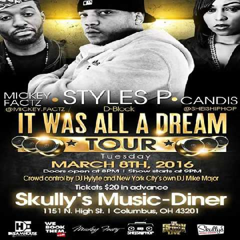 3 of the dopest MCs @ Skullys March 8th! You don't wanna miss this one... @therealstylesp @SheIsHipHop @MickeyFactz https://t.co/l2ny3dXi4y