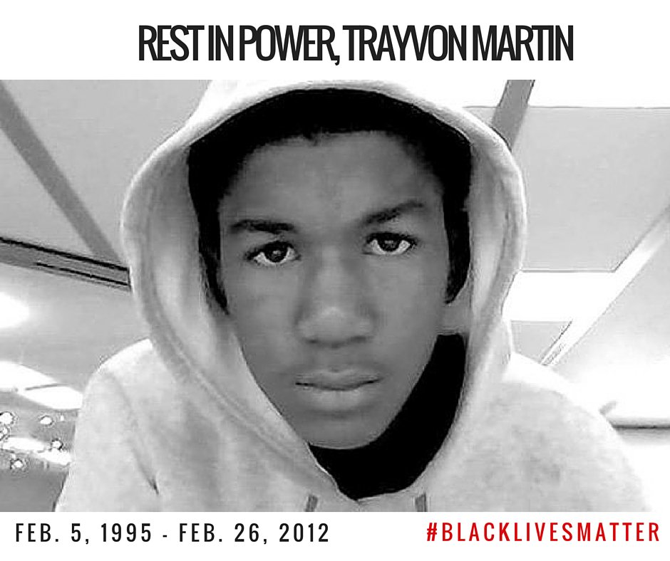 Trayvon Martin was killed on this day four years ago. His death forever changed America. #BlackLivesMatter https://t.co/8iFqomMLQA