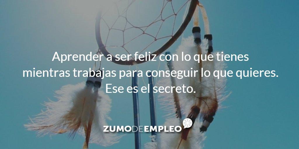 Aprender a ser feliz con lo que tienes mientras trabajas para conseguir lo que quieres. Ese es el secreto. #ZdeCitas https://t.co/LCm5IH3Xc1