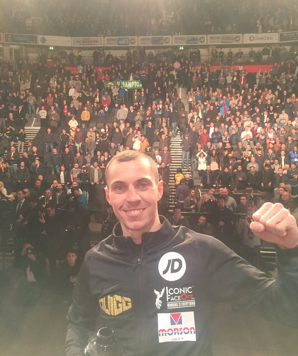 Massive thank you to everyone that turned out for the weigh-in today! Amazing support! #teamquigg !