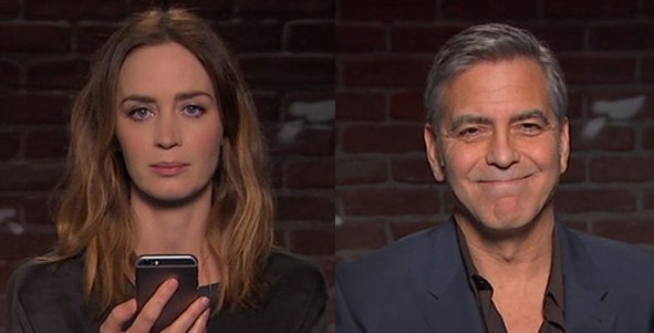 George Clooney, Emily Blunt and more read MeanTweets on JimmyKimmel via @VarietyLatino