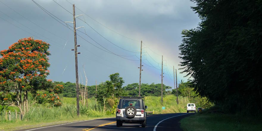 This weekend's forecast calls for clear skies and a chance of rainbows...perfect for a drive around our islands. https://t.co/bV5eP0hwS9