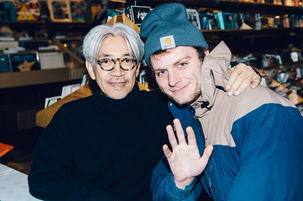 And thank you to all who came by for the signing and to @ryuichisakamoto.  (@Msldemarco // Photo by @chadkamenshine) https://t.co/uQSJjpSMGk