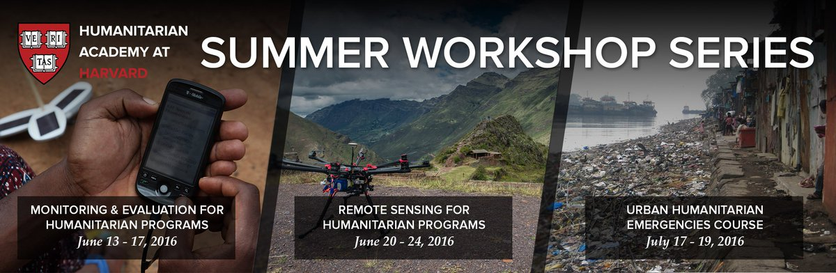 Registration is now open for our Summer Workshop Series for Humanitarian Professionals: https://t.co/7Gba0LbCk3 https://t.co/8yiiDxi2iZ