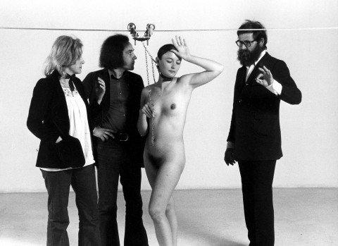 Vettor e Mimma Pisani, Michelangelo e Maria Pistoletto,  'Plagio', 1973 – photo Elisabetta Catalano https://t.co/HDrPe9ynBD