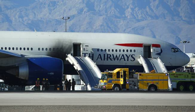 After repairs, fire-damaged British Airways jet leaves Las Vegas