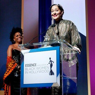 So proud of my #fierce & #fearless sis @TraceeEllisRoss who was honored @essencemag #blackwomeninhollywood luncheon! https://t.co/3pKwWyPLDD