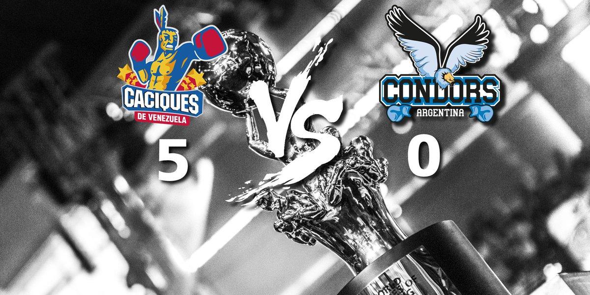 RESULTS - @caciquesdeVzla 5 - 0 @CondorsArgBox  Enhorabuena por este sensacional resultado Caciques!